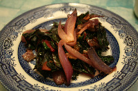 Thumbnail image for Guest Post: Beautiful Saute with Salami and Raisins by Mariana Cotlear