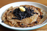Thumbnail image for Recipe: Fermented Buckwheat Pancakes with Biodynamic Currants & Cultured Butter