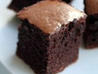 Thumbnail image for Recipe: Mocha Brownie Cake with Caramel Date Sauce (Gluten Free, Dairy Free)